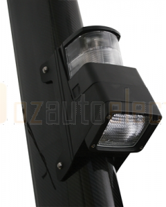 HELLA Halogen 8504 Series Masthead/Floodlight Lamps (12V Black Housing)