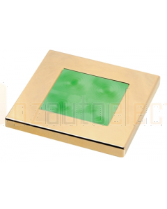 Hella Green LED Square Courtesy Lamp (24V DC, Gold Plated Rim)