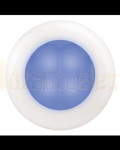 Hella 2XT980502241 Blue LED Round Courtesy Lamp - White Plastic Rim (12V)