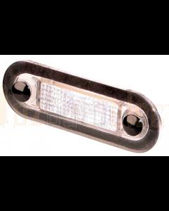 Hella 2XT959510851 White LED Oblong Courtesy Lamp (10-33V DC, Wide Rim)