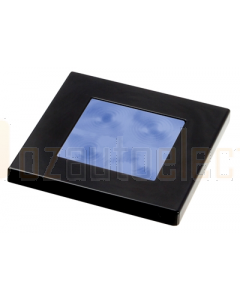 Hella 2XT980583241 Blue LED Square Courtesy Lamp (24V Black plastic rim)