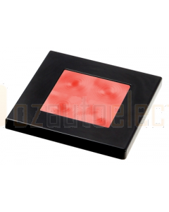 Hella 2XT980587241 Red LED Square Courtesy Lamp (12V DC, Black Plastic Rim)