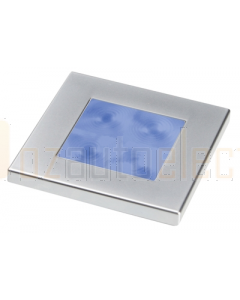 Hella 2XT980583261 Blue LED Square Courtesy Lamp (24V Satin chrome plated rim)