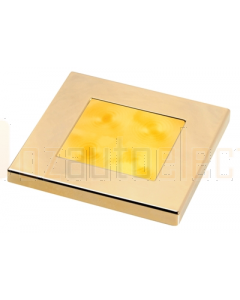 Hella 2XT980587031 Amber LED Square Courtesy Lamp (12V DC, Gold Plated Rim)