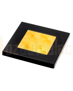 Hella 2XT980588041 Amber LED Square Courtesy Lamp (24V DC, Black Plastic Rim)