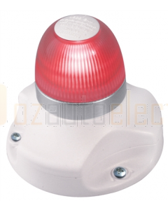 Hella 2LT980910511 2 NM BSH NaviLED 360 All Round Red Navigation Lamps (Surface Mount - White Base)