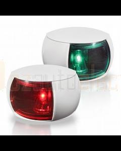 Hella 2LT980520811 2 NM NaviLED Port and Starboard Pair (White Shroud - Coloured Lens)