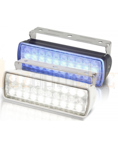Hella 2LT980950071 Sea Hawk-XL Dual Colour LED Spread Floodlight - White/Blue (White Housing)