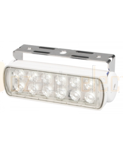 Hella 2LT980670211 Sea Hawk LED Floodlight - Bracket Mount (Spot Light, White Housing)