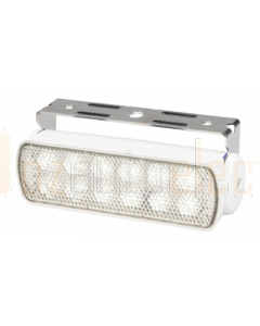 Hella 2LT980670311 Sea Hawk LED Floodlights - Bracket Mount (Spread Light, White Housing)
