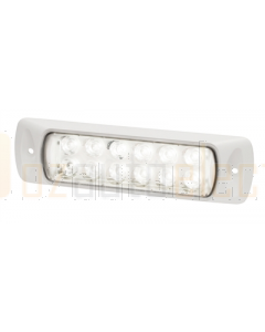 Hella 2LT980747011 Sea Hawk LED Floodlights - Recess Mount (Spot Light, White Housing)