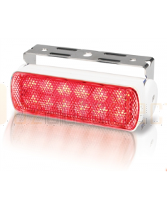 Hella 2LT980670351 Sea Hawk LED Floodlights - Bracket Mount (Red Spread Light, White Housing)