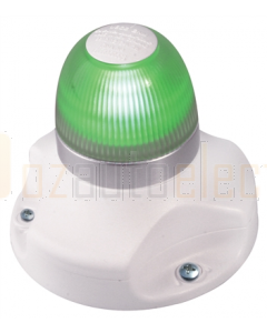 Hella 2LT980910311 2 NM BSH NaviLED 360 All Round Green Navigation Lamp (Surface Mount - White Base)