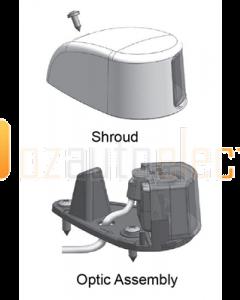 Hella 2LT980620801 2NM NaviLED Deck Mount Port and Starboard Pair (Black Shroud - Coloured Lens)