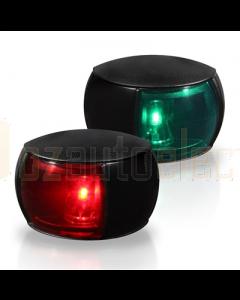 Hella 2LT980520801 2NM NaviLED Port and Starboard Pair (Black Shroud - Coloured Lens)