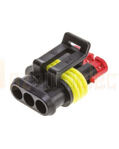 TE Connectivity 282087-1 AMP SUPERSEAL 1.5 Plug, 1 Row 3 Way Connector Housing (bag of 10)