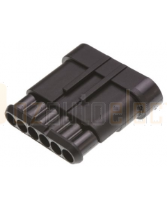 TE Connectivity 282108-1 AMP SUPERSEAL 1.5 Receptacle, 1 Row, 6 Way Connector Housing (Pack of 10)