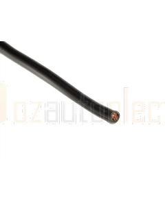 Single Core Black Battery and Starter Cable 6 B&S - 1m (Cut to Length)