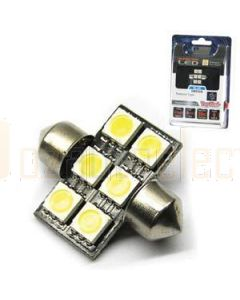 Aerpro SMD96B 6 X SMD LED 31mm Festoon Blue