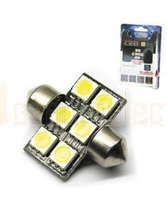 Aerpro SMD96R 6 X SMD LED 31mm Festoon Red