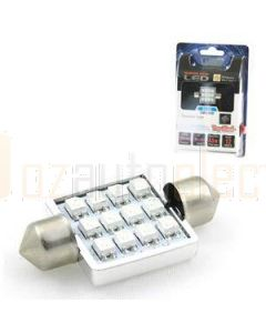 Aerpro SMD98B 12 X SMD LED 36mm Festoon Blue