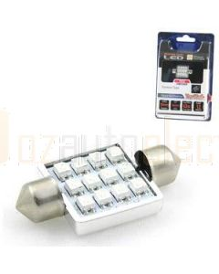 Aerpro SMD98R 12 SMD LED 36mm Festoon Red