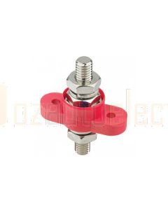 "Bussmann JB7723R Red 250A 3/8"" Single Stud - Feed Through Stainless Steel Junction Block"