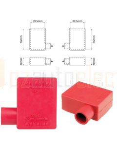 Ionnic SY2910-RED 12.5mm Cable, Left Hand Battery Terminal Insulator - Red (Pack QTY 1)