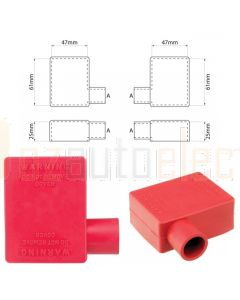 Ionnic SY2912-RED 17.5mm Cable, Right Hand Battery Terminal Insulator - Red (Pack QTY 1)