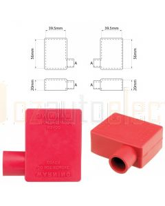 Ionnic SY2914-RED 17.5mm Cable, Left Hand Battery Terminal Insulator - Red (Pack QTY 1)