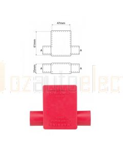 Ionnic SY2915-RED 17.5mm Cable, Double Cable Entry - Red Battery Terminal Insulator (Pack QTY 1)