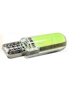 T10 W5W Silicon Cased 12 chips COB LED Wedge Globe