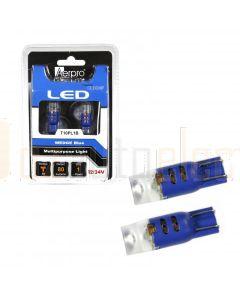Aerpro T10PL1B 1 X Cree SMD T10 Wedge + Diffuser - Blue