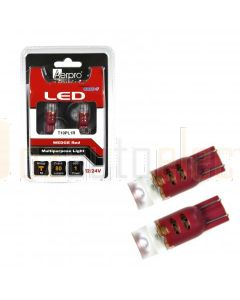 Aerpro T10PL1R 1 X Cree SMD T10 Wedge + Diffuser -Red