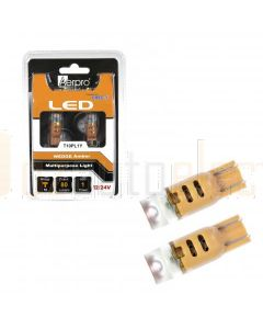 Aerpro T10PL1Y 1x Cree SMD T10 Wedge + Diffuser - Amber