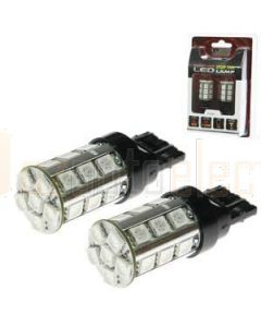 Aerpro T20D24R Replacement Bulbs 20mm Wedge Double Pole 24 LED Red