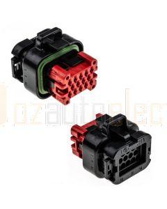 TE Connectivity AMPSEAL 776273-1 14 Circuit Connector Black