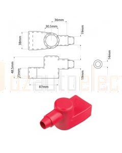 Ionnic SY2990-RED 30.5mm Battery Terminal Insulator in Red (QTY Pack 1)