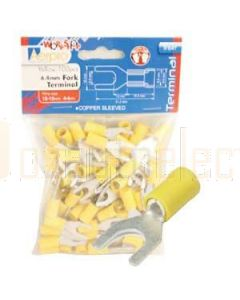 Aerpro TF64Y 6.4Mm Fork Terminals Yellow