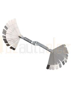 "Toledo 301157 Feeler Gauge - Cranked 26 Blade Metric/Imperial 0.127mm-0.762mm/0.005""- 0.030"""