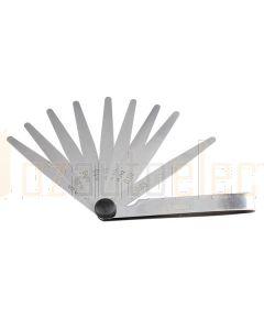 Toledo 301159 Tapered Feeler Gauge - 10 Blade Metric (0.04–0.63mm)
