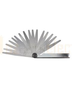 """Toledo 301160 Feeler Gauge - Tapered 16 Blade Metric/Imperial (0.05–0.38mm and 0.002""""–0.015"""")"""