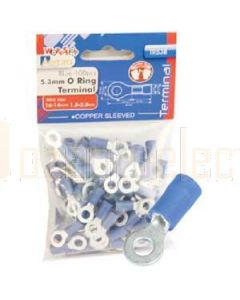 Aerpro TR53B 5.3Mm O Ring Terminal Blue