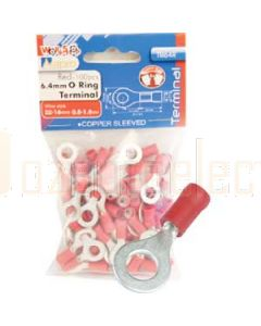 Aerpro TR64R 6.4Mm O Ring Terminal Red