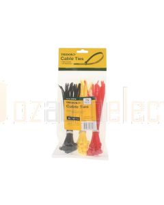 Tridon CTP18 Cable Tie Combo Pack - Assorted Colours (Pack of 75)