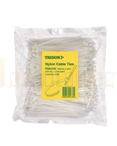 Tridon CTW103NT Cable Tie - Natural (3mm x 100mm)