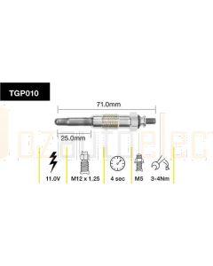 Tridon TGP010 Glow Plug (11.0V)