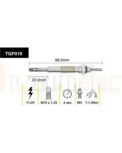Tridon TGP019 Glow Plug (11.0V)