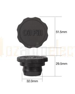 Tridon TOC501 Oil Cap - Rubber Push In