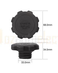 Tridon TOC510 Oil Cap - Plastic Screw (Coarse Thread)